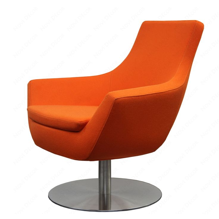 Furniture Accessories Orange Swivel Chairs For Living