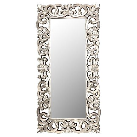 26 best images about miroirs on pinterest painted for Silver framed floor mirror