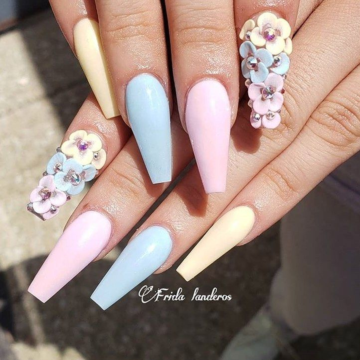 Tones On Instagram Pastel Colors From Fridalanails09 Tonesproducts Tones Nail Cute Acrylic Nails Trendy Nail Art Designs Pastel Color Nails