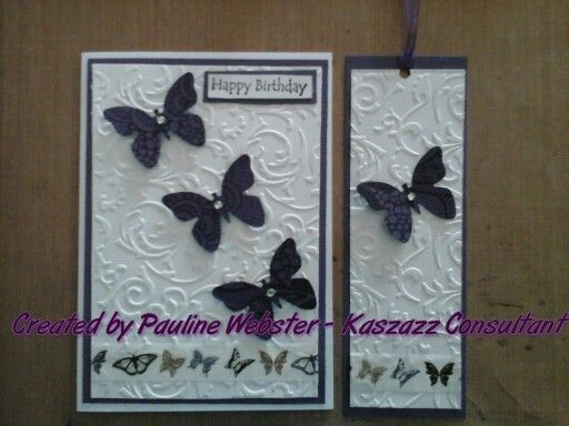 Card using ezy-press and butterfly punch