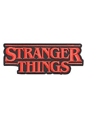 "Officially licensed iron-on patch from the Netflix original series, Stranger Things, featuring an embroidered red & black logo design. Approx. 5"" x 2""Imported"