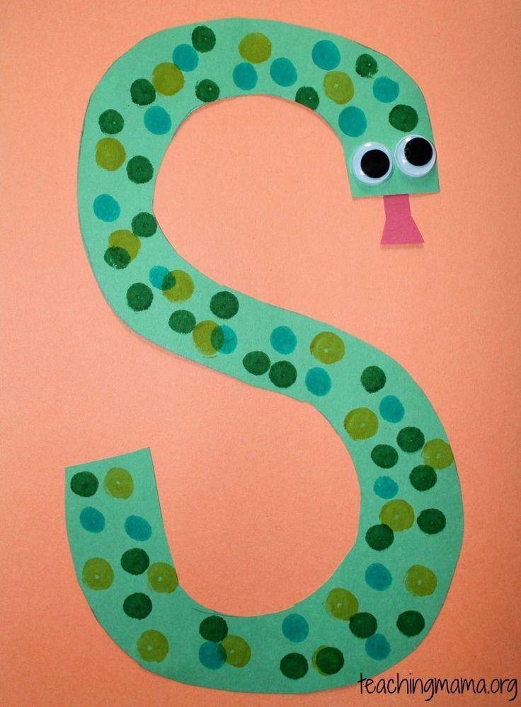 69 Best Letter S Crafts Images On Pinterest Alphabet Art For Kids And
