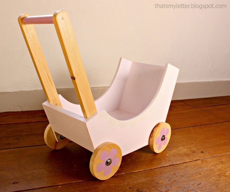 Build your own #DIY doll stroller using simple materials and wood scraps! Just follow Ana White's tutorial.