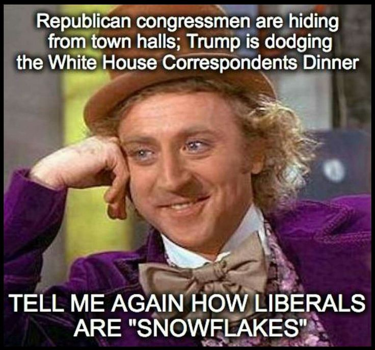 """Tell me more about these so-called """"snowflakes"""". They seem to be in the Republican (GOP) party of all places."""