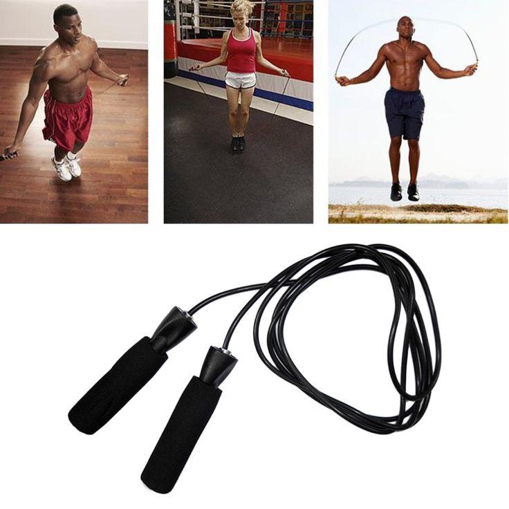 Aerobic Boxen Skipping Seilspringen Einstellbares Hauptschwingenlager Geschwindigkeit Fitness Schwarz Kostenloser Versand