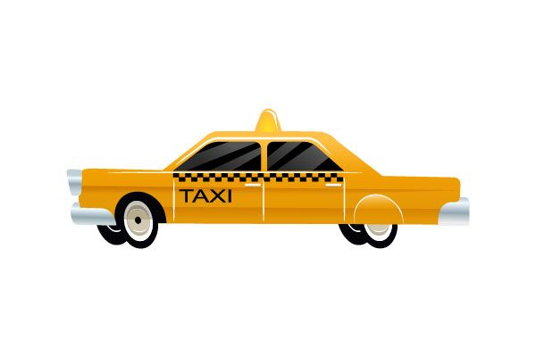 Taxi car vector #taxi #cab #vector #vectorpack http://www.vectorvice.com/cars-vector