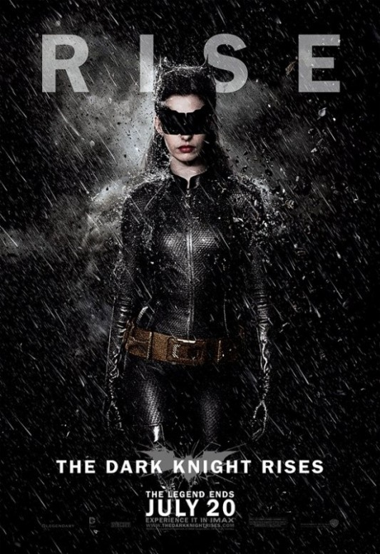 Cat Woman- I love 1. that this is Anne Hathaway (my #1 girl crush) but 2 that it's back to basics on the costuming, the Batman Returns costume was edgy and cool, but the Hallie Berry disaster was just wrong.