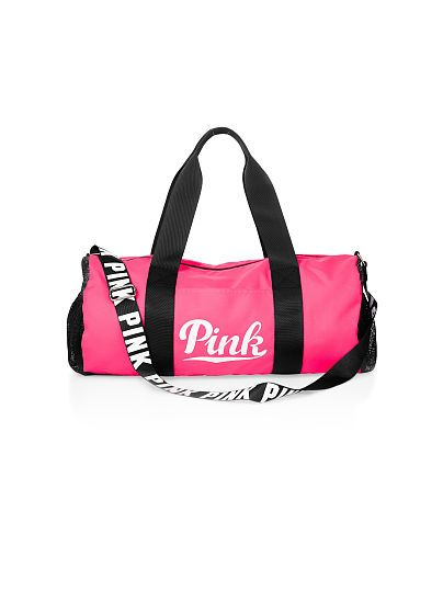 Victoria Secret PINK Duffle Bag In Neon Hot Pink! I Think I May Need To Get This!