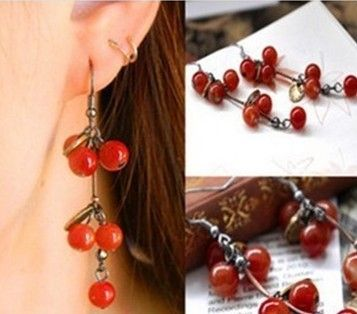 EY326 Latest Fashion Ruili Sweet Plump Cherries Retro Aesthetic Qualities Of Small Earrings Jewelry Factory Direct-in Stud Earrings from Jewelry & Accessories on Aliexpress.com | Alibaba Group