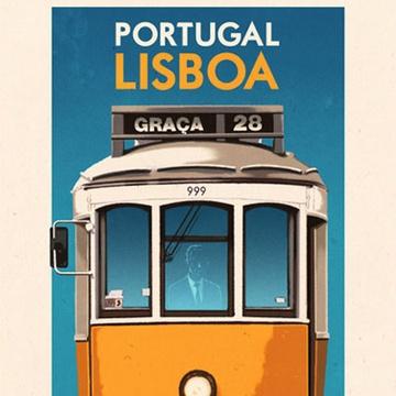 28 Graca Tram,  Lisbon, Portugal, Poster