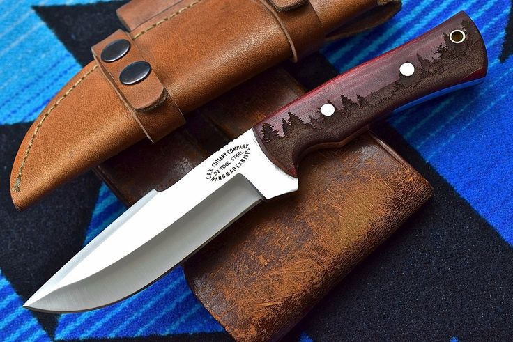 CFK USA Custom Handmade D2 PINE FOREST Textured Grip Camp Survival Hunting Knife