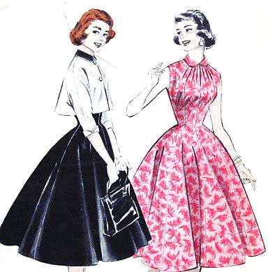 New Look silhouette, as spread after 1947