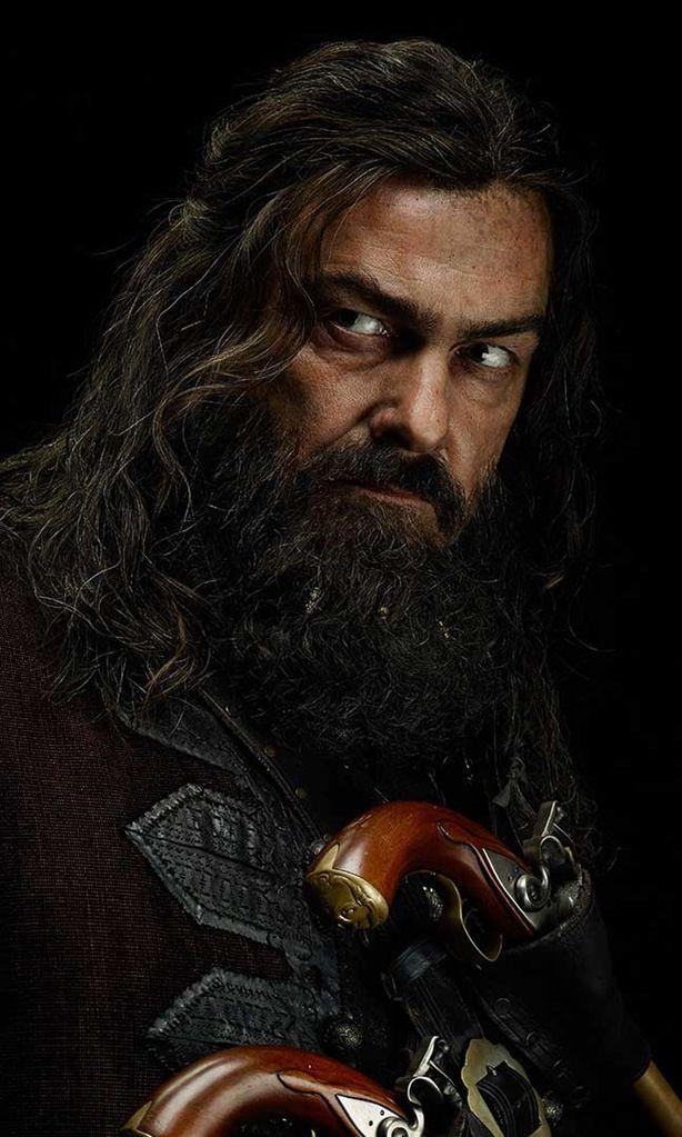 Black Sails,  Blackbeard - Edward Teach played by Ray Stevenson
