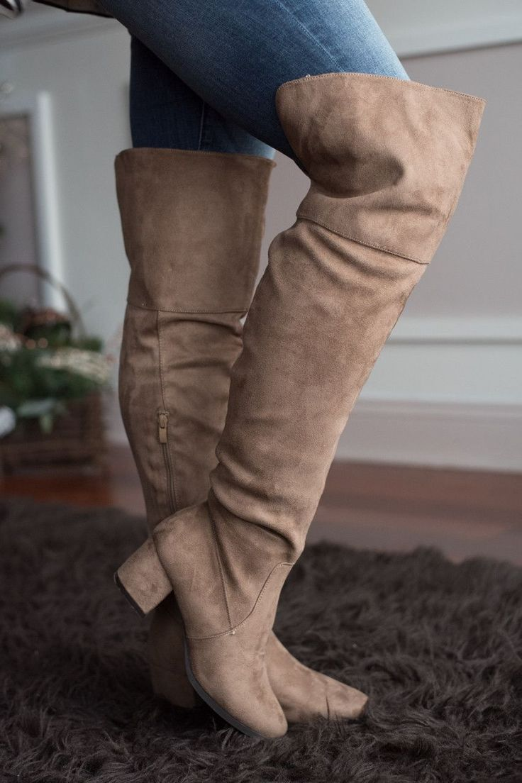 Knee High Camel Boots. Super cute and comfy! True to size.