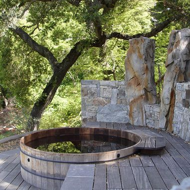 Outdoor Japanese Tubs Design Ideas, Pictures, Remodel and Decor