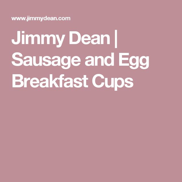 Jimmy Dean | Sausage and Egg Breakfast Cups