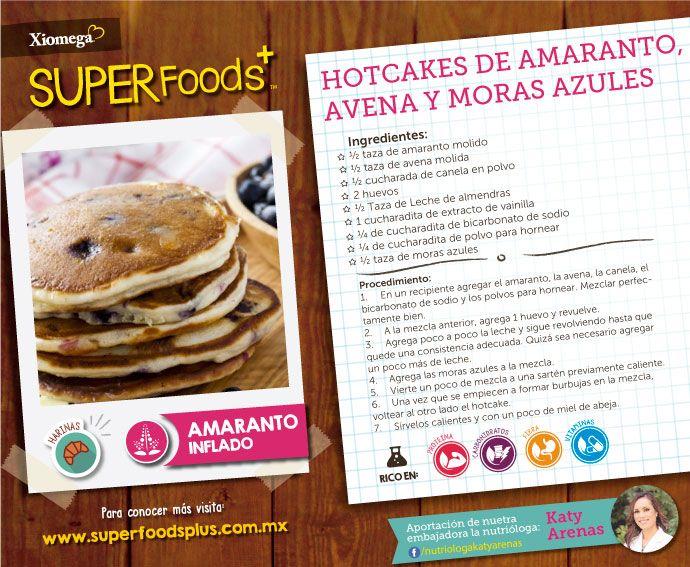 ¿hotcakes con harina de amaranto? ¡Sí! usa #Xiomega3SuperFoods para complementar tu dieta diaria.