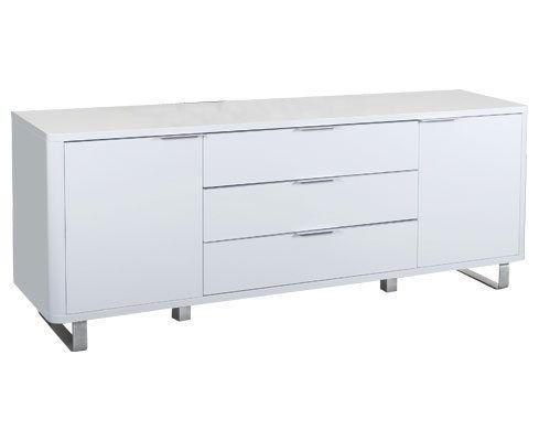 White TV Gloss Sideboard with extra storage for TV on top?