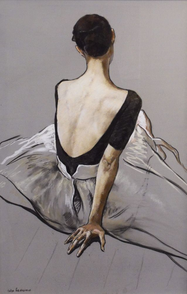 Back View Dancer by Katya Gridneva