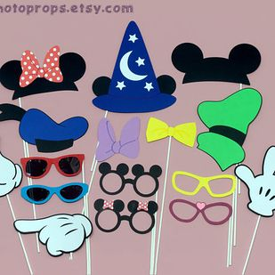 Put some Disney fun in your photobooth. Etsy