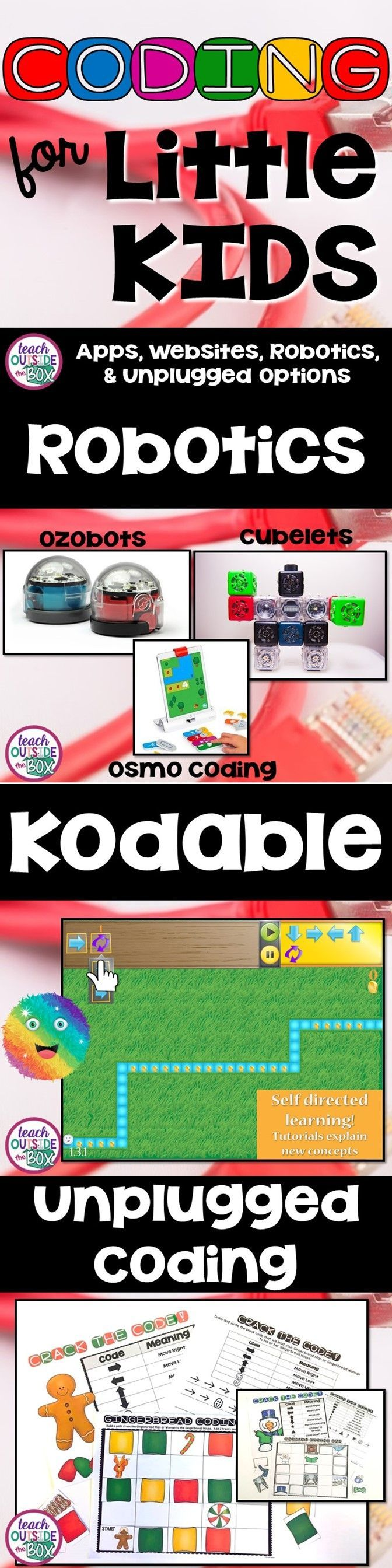 Apps, Websites, Robotics toys, and unplugged coding options for young children! | Hour of Code | Elementary Coding
