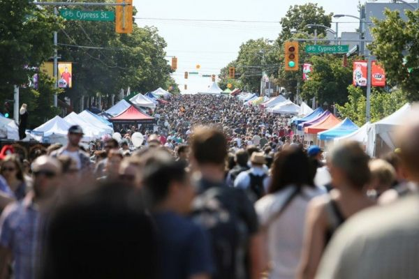 Khatsahlano! Music + Art Festival turns 10 blocks of West 4th—from Burrard to MacDonald—into a whopping street happening of music, food, and art.