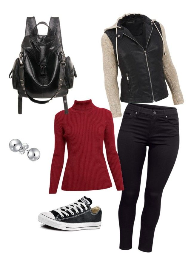 """""""warm and comfortable"""" by syddeon on Polyvore featuring H&M, Converse, Bling Jewelry, Rumour London and plus size clothing"""