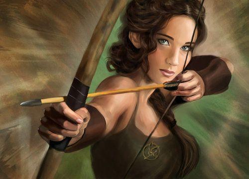 Desenho da Katniss ! Perfect =o s2