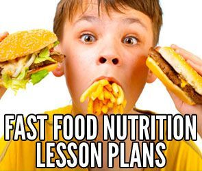 Fast Food Nutrition Lesson Plans for your students! Perfect for health, nutrition and PE teachers. Webquest activities for both Middle School and High School classes.