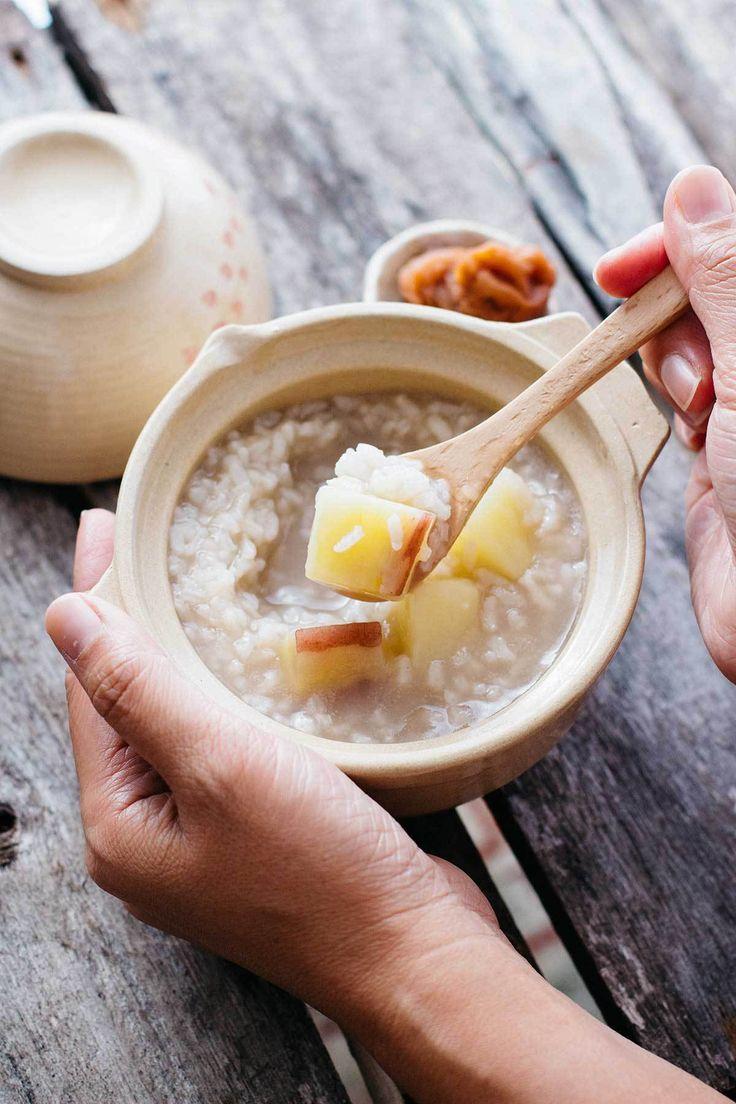 Japanese rice porridge with sweet potatoes