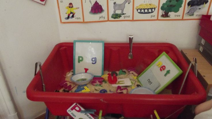 Finding letters, forming words Sensory play for School Years@ Acorns Nursery Bucharest