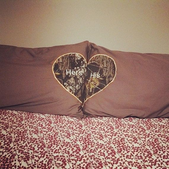 His and Hers Mossy Oak Pillow Case set by DaydreamingCreations, $20.00