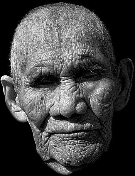 90 year-old Navajo Native American man   who spent much of his life working for the railroad in Arizona.