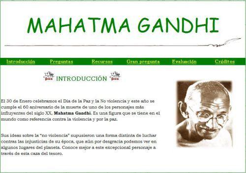 Caza del tesoro sobre Ghandi