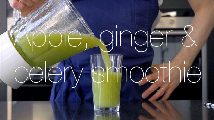Apple, ginger & celery smoothie