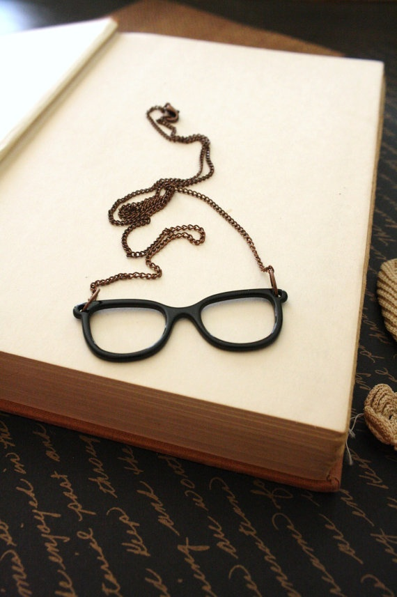Eyeglass Necklace  Nerdy Specs  Charm  Ginger by GingerHollow, $22.00