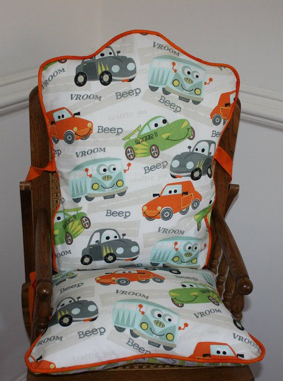 High Quality Vroom Cars High Chair Cushions High Chair Pads By MayberryandMain