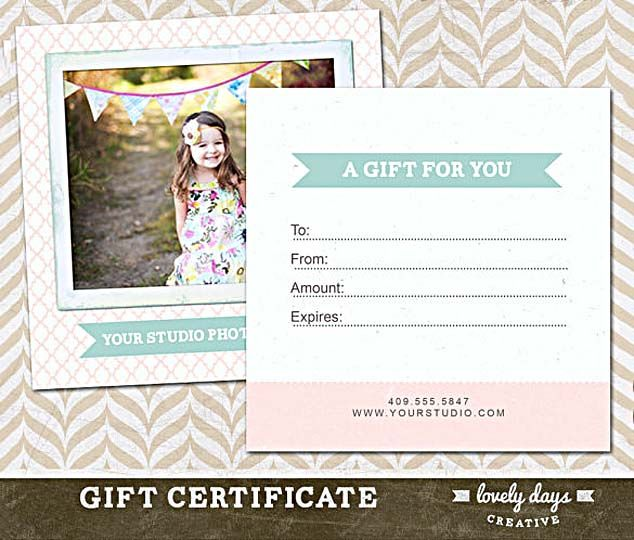 11 best Photography ~ Voucher images on Pinterest Ideas - business gift certificate template free