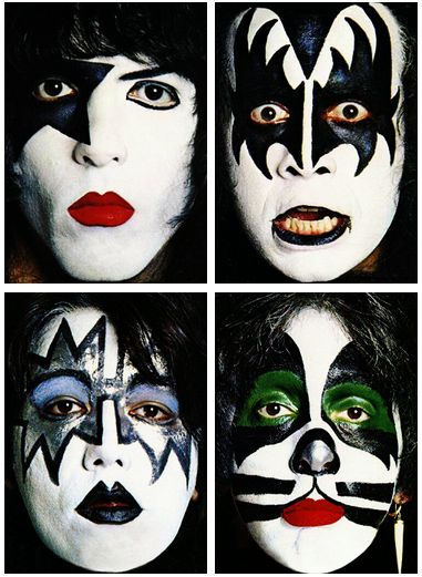 197 best kiss images on pinterest kiss band rock bands for Kiss mask template