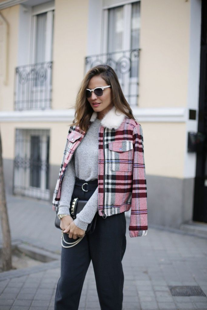 PINK CHECKED JACKET Lady Addict waysify