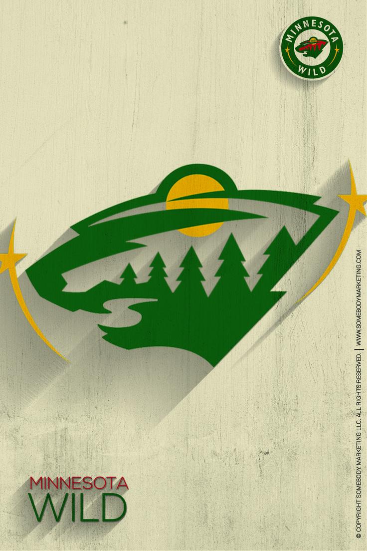 Hockey Logos Teams Wild Minnesota Herb Nhl Competition Pride Grass