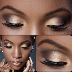 Natural make-up on brown skin!! Love it!! Now if I could only perfect the art of putting on false eyelashes....