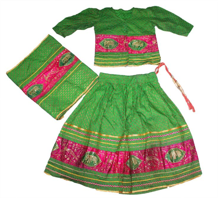 Kids Ghagra Choli Dress Lengha Chania choli garba dress dance dress dandia by Vintageethnicindian on Etsy