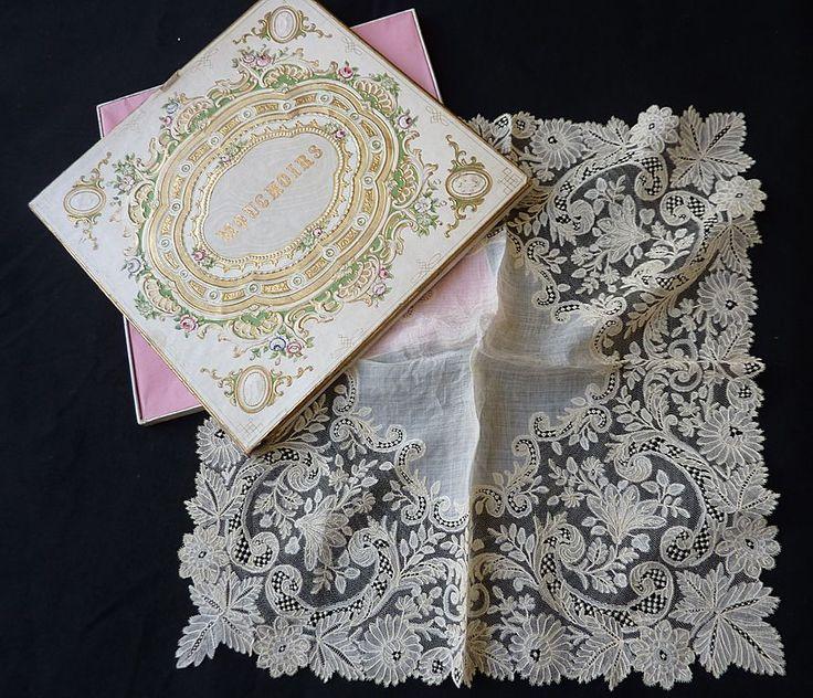 Details unknown; handkerchief of point de gaze laze.