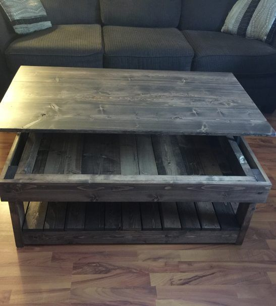 Rustic lift top coffee table Creative sights