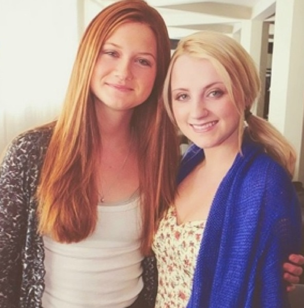 I just love these two. Bonnie and Evanna. :)