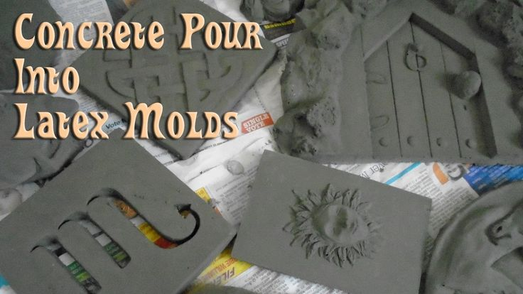 Concrete Pour Into Latex Molds https://www.youtube.com/attribution_link?a=lDbm0g6J4L4&u=%2Fwatch%3Fv%3DoFQSz8_CgIA%26feature%3Dshare . how to make your own #crafts follow @cutephonecases