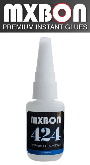MXBON 424 is based on the same amazing formula as MXBON 105, but we have added a scientifically engineered formula to allow the glue to maintain a gel form without hardening in the bottle.