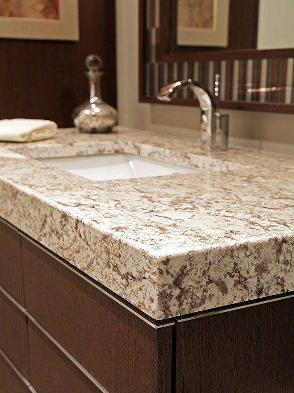 Brown Granite Bathroom Countertops, Bathroom Granite Vanity Tops