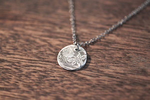 Silver Pendant Made with Precious Metal Clay                                                                                                                                                                                 More